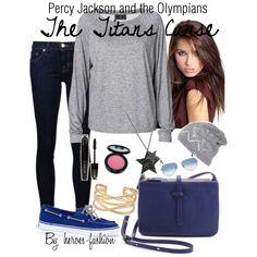 """Percy Jackson and the Olympians, The Titans Curse"" Nerd Fashion, Fandom Fashion, Fashion Brenda, Percy Jackson Outfits, Trendy Outfits, Cute Outfits, Disney Outfits, Anime Outfits, Fandom Outfits"