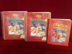 Bob Jones Reading 4 Student & Teacher Edition 1&2, VG, BJU Homeschool or School  #TextbookBundleKit