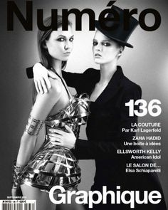 Numéro France September 2012 featuring Karlie Kloss and Daria Strokous