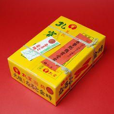 【徳島/菓匠孔雀/創業昭和34年/なると金時】徳島県の土産品新作コンクールで知事賞をとったときの新聞記事を包装紙として使用する。