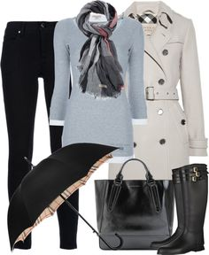 Burberry I by partywithgatsby Classy Outfits, Fall Outfits, Casual Outfits, Cute Outfits, Fashion Outfits, Fashion Ideas, Womens Fashion For Work, Work Fashion, Fashion Looks