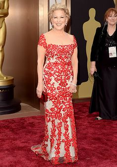 She just gets better with age. I love her floral Reem Acra! Her body is so fab for 68! See her and my other favorite fashions in my review of the Oscar 20014 Fashion Winners! #Oscars2014 #Oscars #fashionreview #fashion #style #beauty #celebrity #movies #BetteMidler #ReemAcra