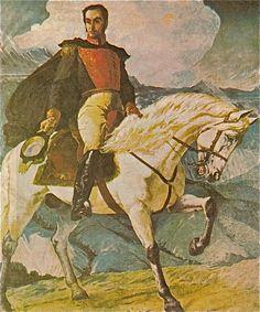 Tito Salas Venezuelan contemporary painting.  1887/1974  Bolivar by Tito Salas