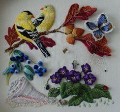 Stumpwork Embroidery Tutorial | Embroidery in progress: An Elizabethan Stumpwork Bride's Bag…