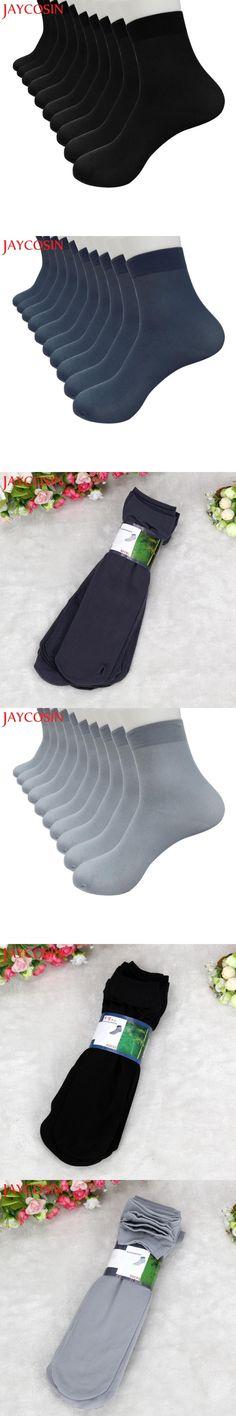 SIF 10 Pairs Bamboo Fiber Ultra-thin Elastic Silky Comfortable Short Silk Stockings Men Socks 100% Brand New Hot Dropship 711
