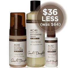 Natural Hair Care, Natural Beauty Products, Natural Skincare - Açai Hydrating Skincare Set - Carol's Daughter
