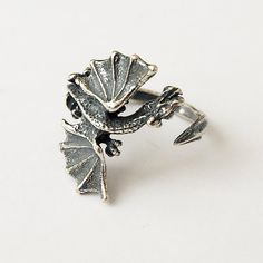 Dragon ring  Production technology: casting Material: Silver plated brass  Payment: PayPal or Direct Checkout About shipping: https://www.etsy.com/shop/BDSartJewelry/policy?ref=shopinfo_policies_leftnav  All rings come in gift box..