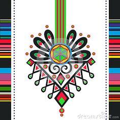 Polish folk design, pattern parzenica