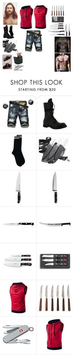 """""""Fang - Film Z"""" by koolkat1573 on Polyvore featuring Rick Owens, Zwilling, KitchenAid, J.A. Henckels, Coltellerie Berti, Improvements, Victorinox Swiss Army, men's fashion and menswear"""