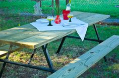 How To: Build An Extra Large Diy Picnic Table