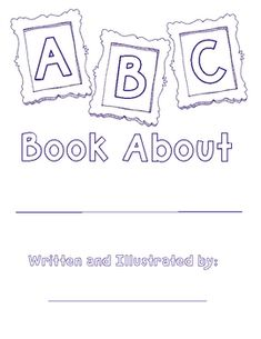 ABC book template freebie...could use as a review for ANYTHING..good chance to read the ABC books of different topics too
