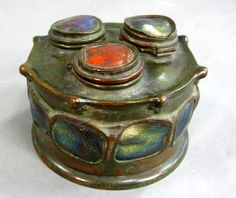 Very rare Tiffany Studios turtleback inkwell
