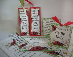 women's+ministry+bookmark+crafts | Each Theme Printable Set is a little different and contain different