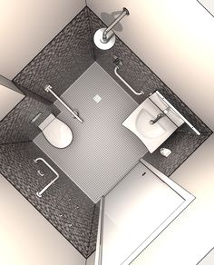 Progettazione DWG Bagni disabili disegni in 3D | Da realizzare ...