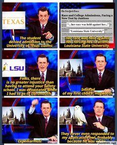 Expelliarmus- Stephen Colbert