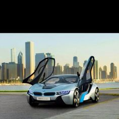 The BMW was unveiled at the Frankfurt Motor Show in 2013 and is a plug in hybrid sports car. The combines a turbo charged motor with a large electric engine and the car has some impressive performance figures. Super Yachts, Bmw I8 Black, Supercars, Bmw Concept Car, Eco Friendly Cars, Lexus Lfa, Futuristic Cars, Small Cars, Car Wallpapers