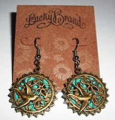 Lucky Brand Earrings The Peaceful Dove Dangle Free Shipping $8.95