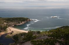Sand Beach from The Beehive, Acadia National Park, Mount Desert Island, Maine