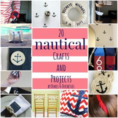 20 nautical crafts and projects ღ❤ღ