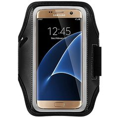 Skylarking Sweat Proof Running & Exercise Armband Case with Key, Credit Card / Money Holder & Reflective Band for Samsung Galaxy S7 Edge. Compatible with Samsung Galaxy S7 Edge. Features: Built in key holder, ID/Credit Card/Cash Holder and earphone jack openings. Quality Materials: Made from premium lightweight neoprene; sweat proof, durable and protects your device all around. Full Touchscreen Compatibility: Clear protective screen window offers full function of your phone. Adjustable…