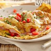 Ham, Cheese and Tomato Omelette - Coles Recipes & Cooking