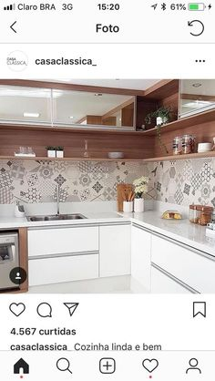 Kitchen Modernas - Bright Idea - Home, Room, Furniture and Garden Design Ideas Kitchen Corner Units, Modern Kitchen Cabinets, Kitchen Sets, Kitchen Tiles, Kitchen Furniture, Kitchen Room Design, Kitchen Cabinet Design, Modern Kitchen Design, Interior Design Kitchen