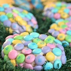 M Rice Krispie Easter Eggs