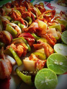 Alambre de Pollo-Red Chile Marinated Chicken Skewers
