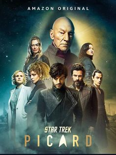 """The Star Trek Series ist back with another story. The one of Captain Picard. In """"Star Trek: Picard"""" he starts his way back into space and meet all his friend. Star Trek Voyager, Star Trek Enterprise Ship, Star Trek Cast, Star Trek Show, Star Trek Series, Uss Enterprise, Star Trek Starships, Star Trek Wallpaper, Patrick Stewart"""