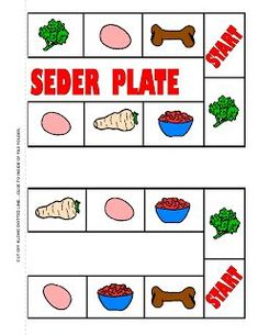 Play the Fill Your Seder Plate game!  Roll the dice, and color in the items on your seder plate--who will be the first to collect them all?