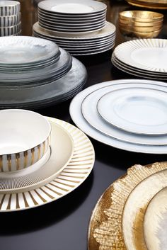 If you swoon over silver & gold, take a look at our dinnerware collection for the Fall/Winter season.