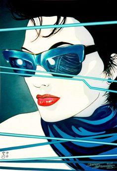63e6378180b5 Sunglasses.Szekeres by Elf-Fin on deviantART. Patrick NagelNagel ArtArt GirlBlue  ...