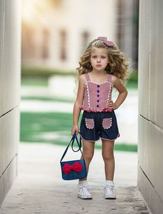 Picnic In The Park Top & Lady Hollyhock Shorts - Dollcake Dresses Kids Girl, Kids Outfits, Cute Little Girl Dresses, Baby Outfits, Toddler Fashion, Kids Fashion, Fashion Models, Super Cute Dresses, Kind Mode