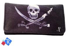 Pirate Skull Printing Tobacco Case Rolling Cigar Pouch Wallet PU Leather Cigar