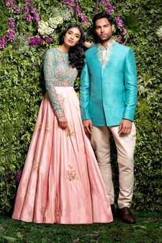 Daytime functions be like this! Simple and stunning shyamal and Bhumika ensemble ❤️❤️ #indianwedding light pink  #lehenga | curated by #WittyVows The Ultimate Guide for the Indian Bride | www.wittyvows.com