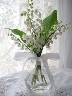 My mom loved Lilly of the valley....and would make tiny arrangements for our house...yummy scent