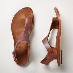 Flat Sandals, Shoes Sandals, Brown Sandals, Flats, Gladiator Sandals, Beach Sandals, Women's Leather Sandals, Flat Shoes, Beach Shoes