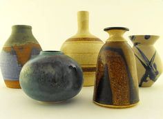 studio pottery | Danish Modern Studio Pottery Vase Collection