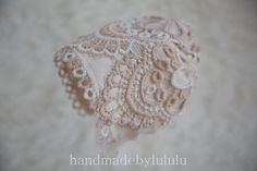 baby bonnet simply from vintage lace and by handmadebylululu