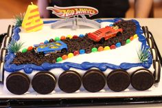 DIY Hotwheels Birthday Cake