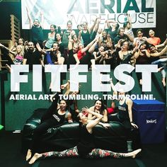 FITFEST!! The 4th Friday  of every month! $20 Come hangout...literally! Adult Tumbling Aerial Silks and Trampoline. Friday February 24.  7:30pm-9:00pm #fitspo #getfit #afterworktreat #armday #tiucheckin #workoutmotivation #legday #Fitfest