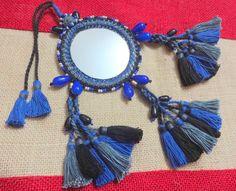 Large Mirror Indian Tassel Purse & Handbag by uDazzleSupplies