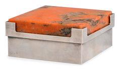 Bertel Gardberg, silver box with stone lid Iron Mountain, Steel Furniture, Orange, Helsinki, Metallica, Sri Lanka, Decorative Items, Dinnerware, 3 D