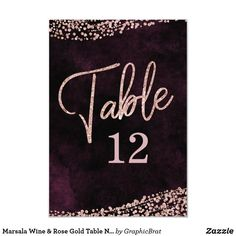 Shop Marsala Wine & Rose Gold Table Number Seating created by GraphicBrat. Blush Wedding Flowers, Rustic Wedding Flowers, Elegant Wedding, Burgundy Wedding Invitations, Watercolor Wedding Invitations, Wedding Stationery, Gold Table Numbers, Wedding Table Numbers, Rose Gold Foil