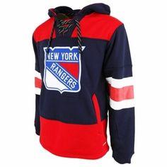 51b9f6de6 New York Rangers Reebok Face-Off Team Jersey Hoodie - Mens Trikot-outfit
