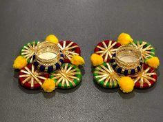 Diwali Diy, Diwali Craft, Diwali Decorations At Home, Festival Decorations, Home Entrance Decor, Rakhi, Diy Art, Festive, Diy Ideas