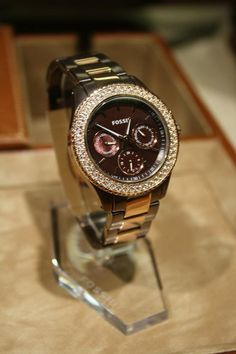 Fossil Stella Brown and Rose Gold Stainless Steel Watch