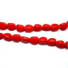 Red Tumble Beads