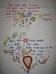 Lojinha da Avó Lurdes: Naperons Ribbon Embroidery, Embroidery Patterns, Embroidery Scarf, Portuguese Culture, Stitch Book, Cross Stitch, Embroidered Flowers, Needlepoint, Needlework