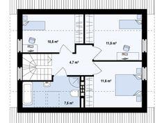 proiecte de case cu mansarda sub 100 de metri patrati Attic houses under 100 square meters 4